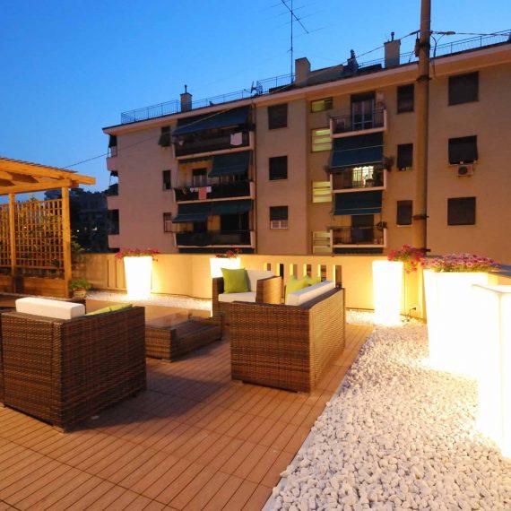 Creare e arredare il terrazzo, un progetto di Roberto Silvestri Architetto